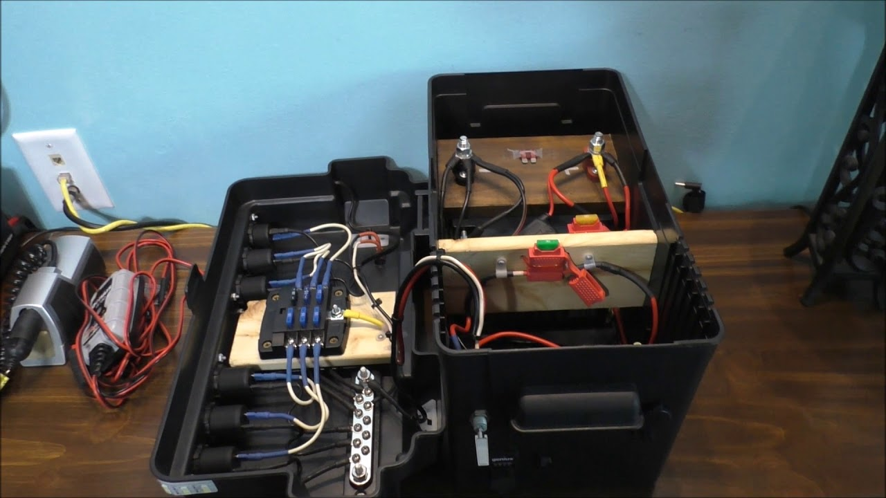 Safety With Fuses On A 12 Volt Battery Backup System Youtube Portable Fuse Box