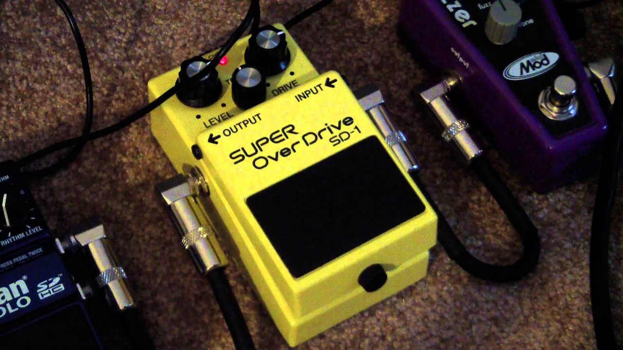 boss super overdrive sd 1 pedal review youtube