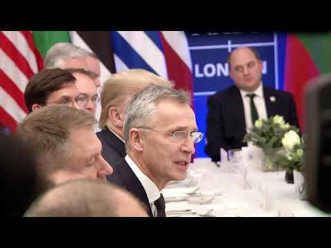 Pranzul oferit de Donald Trump liderilor NATO din Flancul Estic la Summit-ul de la Londra