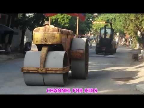 Xe lu làm đường - Yellow Roller - Car , Toy for kid