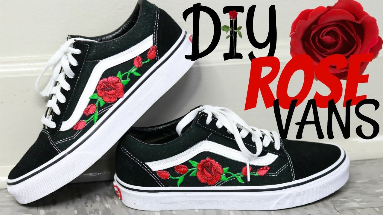 patch vans rose