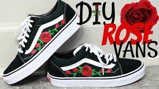 DIY Rose Patch Vans Tutorial - YouTube 84d822b18