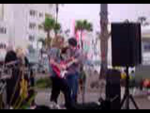 Scott Warren and Band Jamming at the Sunset Market, Oceanside, Ca.