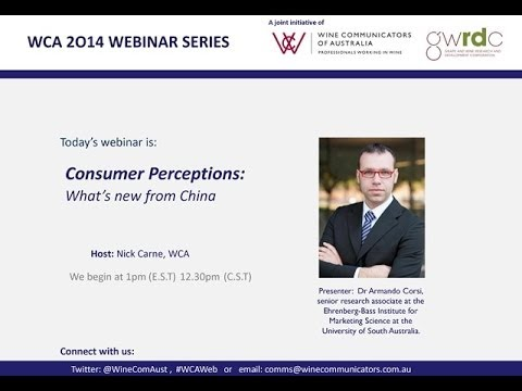 WCA Webinar - Consumer Perceptions: What's new from China