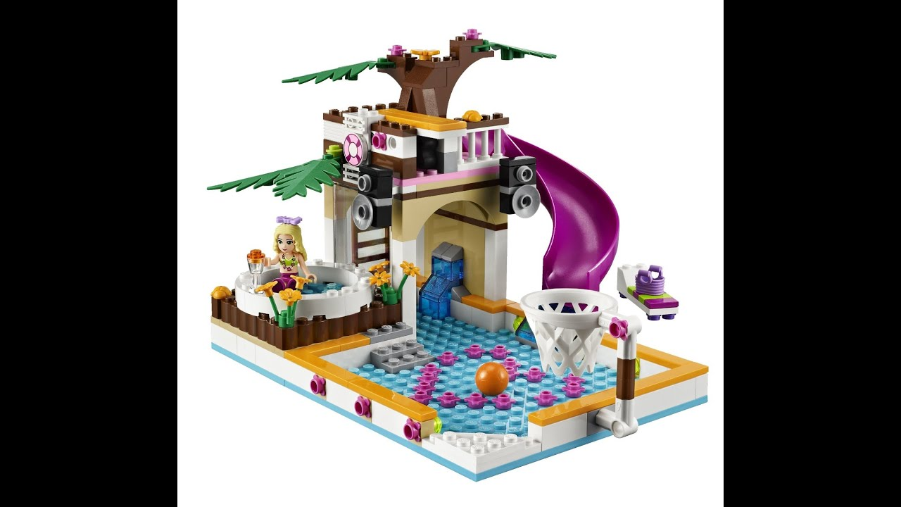 Lego friends la piscina de hearthlake city juguetes for Juguetes para piscina
