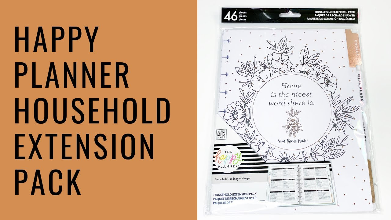 HAPPY PLANNER HOUSEHOLD EXTENSION PACK!
