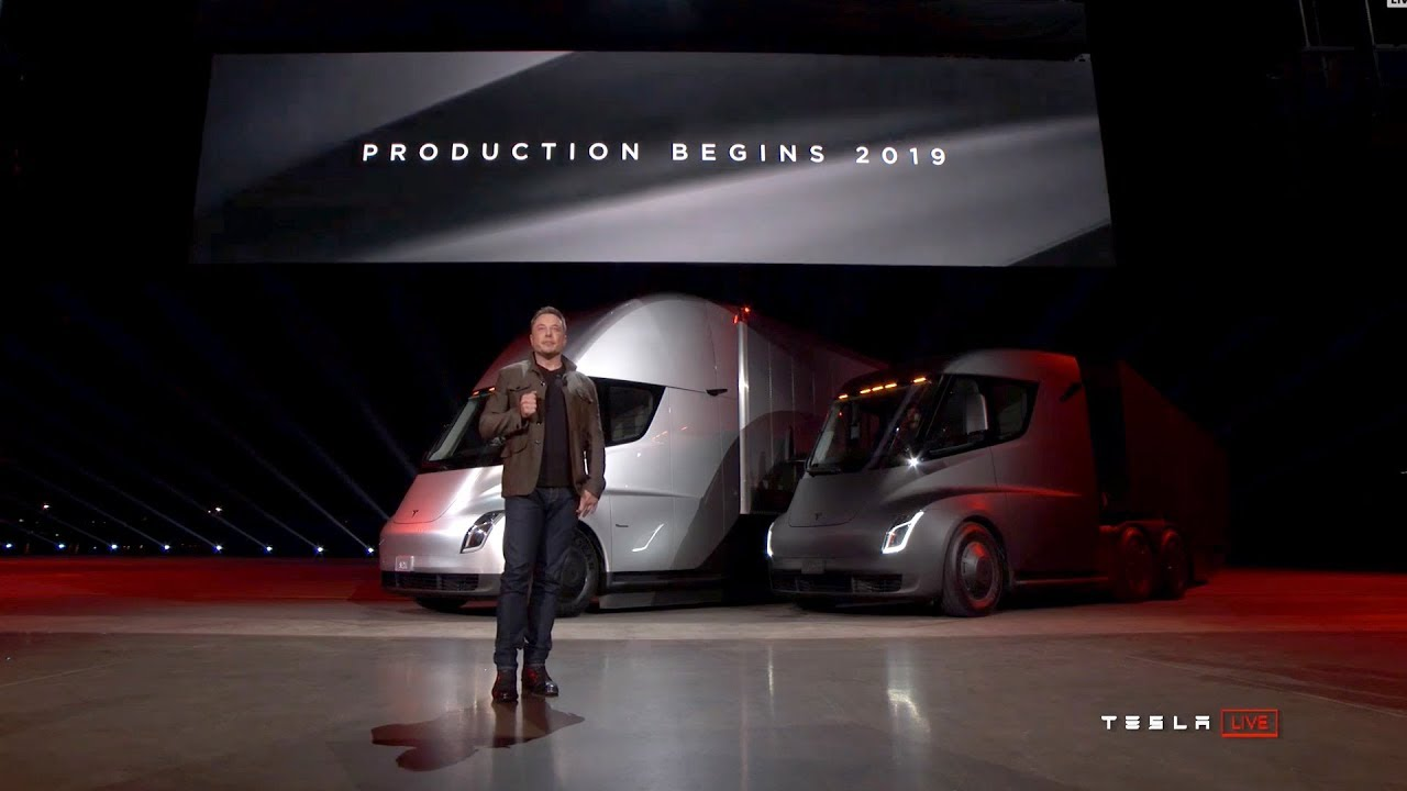 Musk Tesla The Tesla Semi And Tesla Roadster Unveiled By Elon Musk