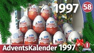 Адвент календар 1997. Розпакування раритетних кіндер сюрпризів. Частина 1