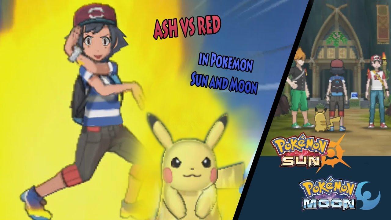 Pokemon Sun and Moon: Alola Ash Vs Alola Red (Ash and Pikachu Z ...