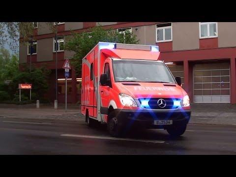 Einsatz neben der Wache - 2x RTW Berliner Feuerwehr FW Wittenau