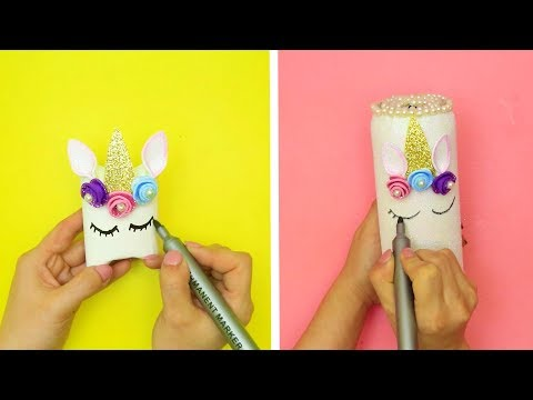 DIY UNICORN CRAFT IDEAS || EASY AND COOL UNICORN CRAFT IDEAS WITH RECYCLED MATERIALS