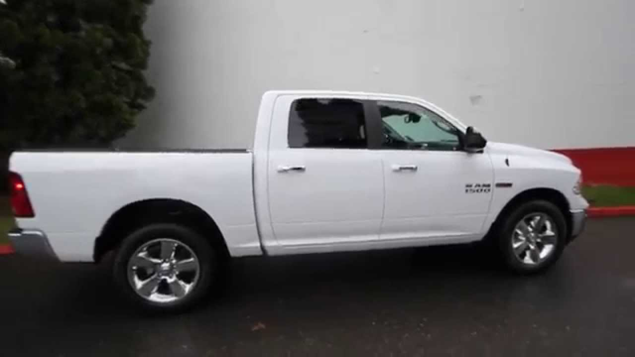 2015 dodge ram 1500 big horn crew cab white fs537476 redmond seattle youtube. Black Bedroom Furniture Sets. Home Design Ideas
