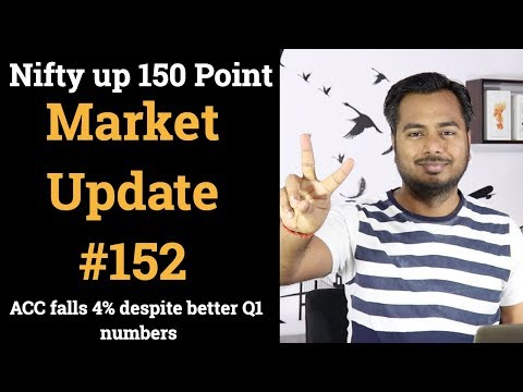 Market Update #152 Nifty Up 150 Point , ACC Falls 4% Despite Better Q1 Numbers