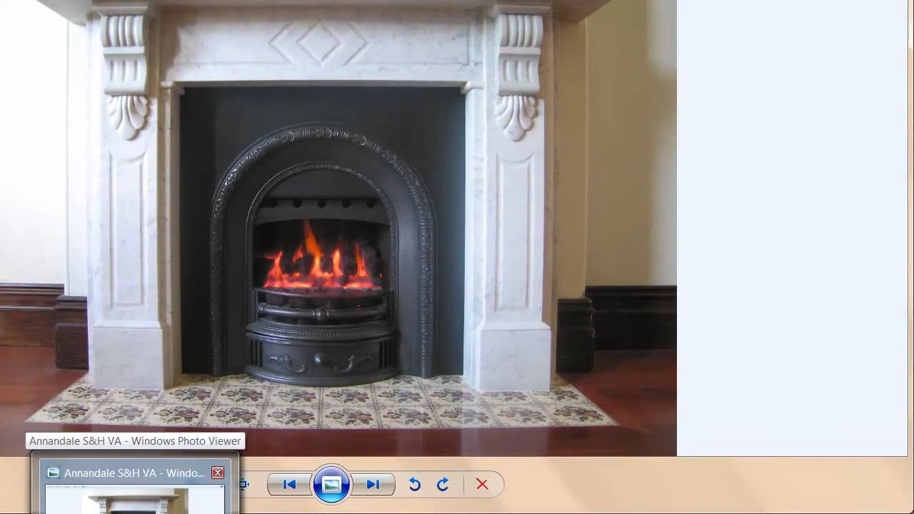 Carrara Marble Surround Arched Cast Iron Fascia Print Hearth Tilles Wonderfire Fan Forced Coal Gas Fire