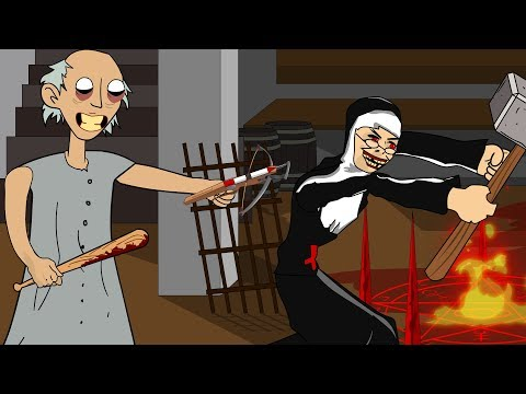 GRANNY THE HORROR GAME ANIMATION #22 : EVIL NUN Vs Scary Gra