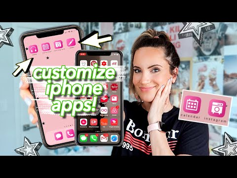 7 AESTHETIC Ways To Organize IPhone Apps! CHANGE APP COLORS!