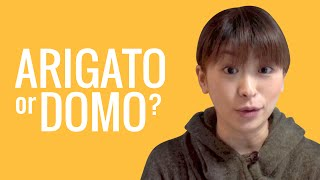 Ask a Japanese Teacher! What's the difference between ARIGATO and DOMO??