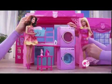 Mattel Barbie Glam Vacation House Amp Glam Convertible Youtube