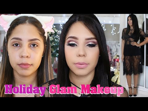 Maquillaje FESTIVO GLAM│Full Face Paso a paso + Outfit♡│Mirianny