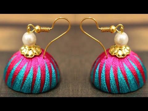 Silk Thread jhumka Earrings || Silk Thread Jewellery || Art Beauty Corner