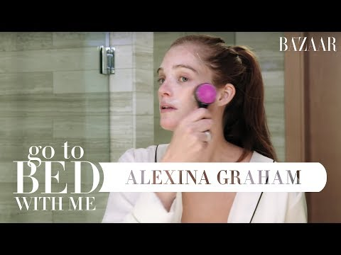 Victorias Secret Model Alexina Grahams Nighttime Skincare Routine  Go To Bed With Me