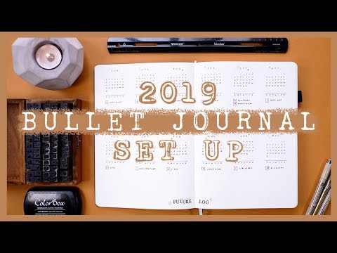 My NEW Bullet Journal Set Up 2019: Migrating Into A New BuJo!