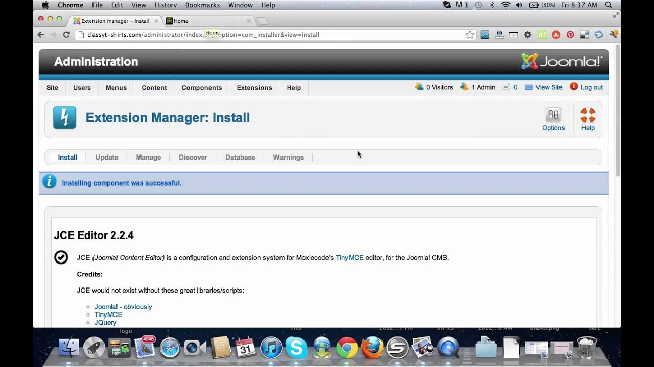 How to Install A WYSIWYG Editor Joomla 2.5 (IMPORTANT!) - YouTube