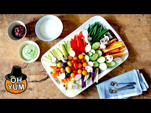 Amazing Vegetable Platter And Dip Recipe | The Perfect Christmas Dinner