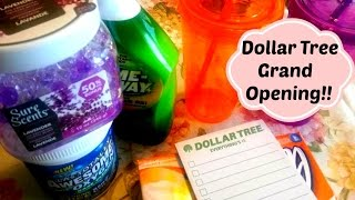 Come with me to Dollar Tree Grand Opening VLOG/HAUL