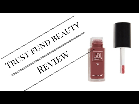 Trust Fund Beauty Lipgloss review
