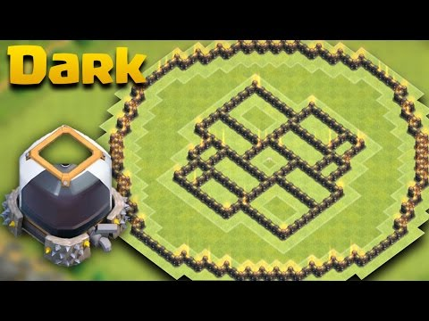 TH9 Town Hall 9 Dark Elixir Protection Base The Ball + Defense Log Against All Farming Combo