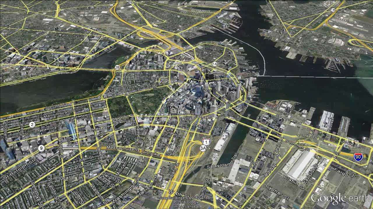 Boston: Google Earth Fly-By/Zoom-In
