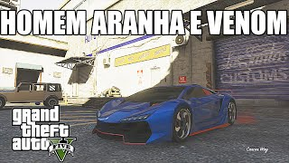 GTA V - PINTURAS DIFERENCIADAS - HOMEM ARANHA E VENOM