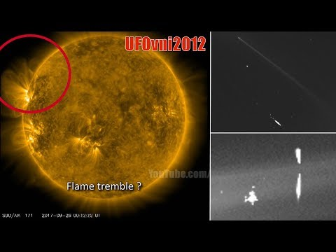 Giant invisible UFO, Sun diving comet & unknown deep  space object captured by SOHO Spacecraft