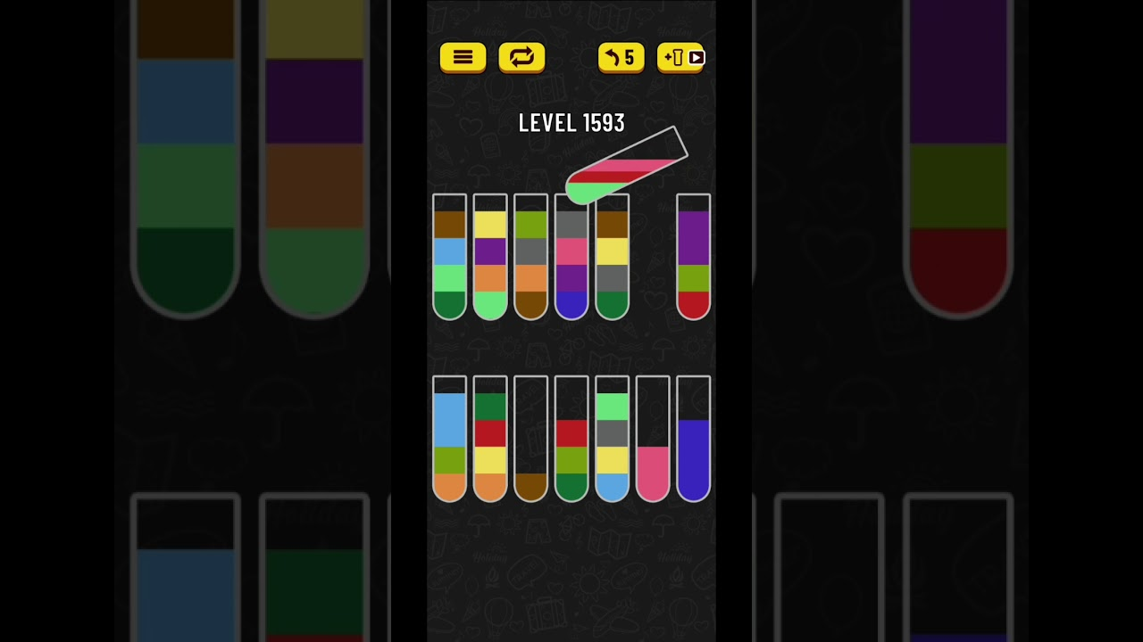 Download Water sort puzzle level 1593