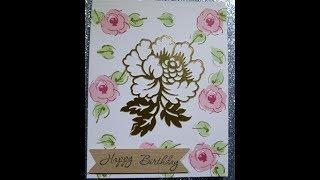 Happy birthday card using Altenew and Cricut