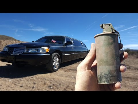 Will A Thermite Grenade Blow Up A Limo? slow motion