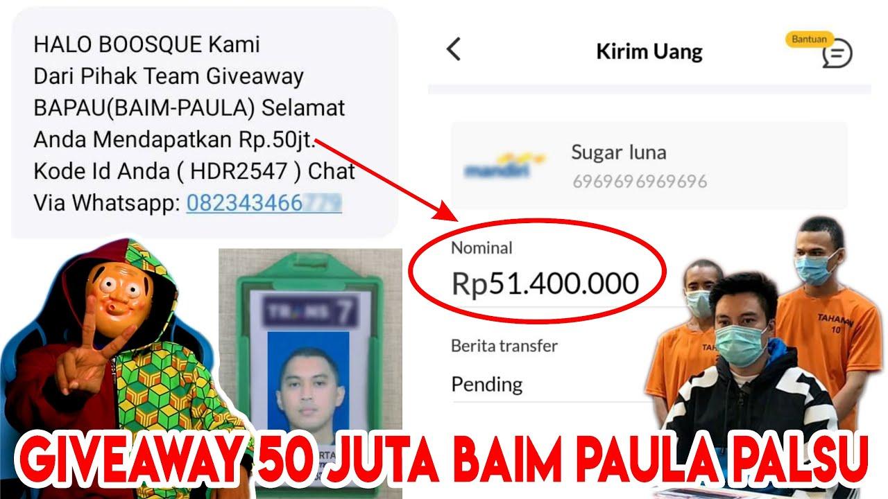 GIVEAWAY 50 JUTA BAIM WONG - PAULA PALSU   Tipu Menipu Eps 2.0