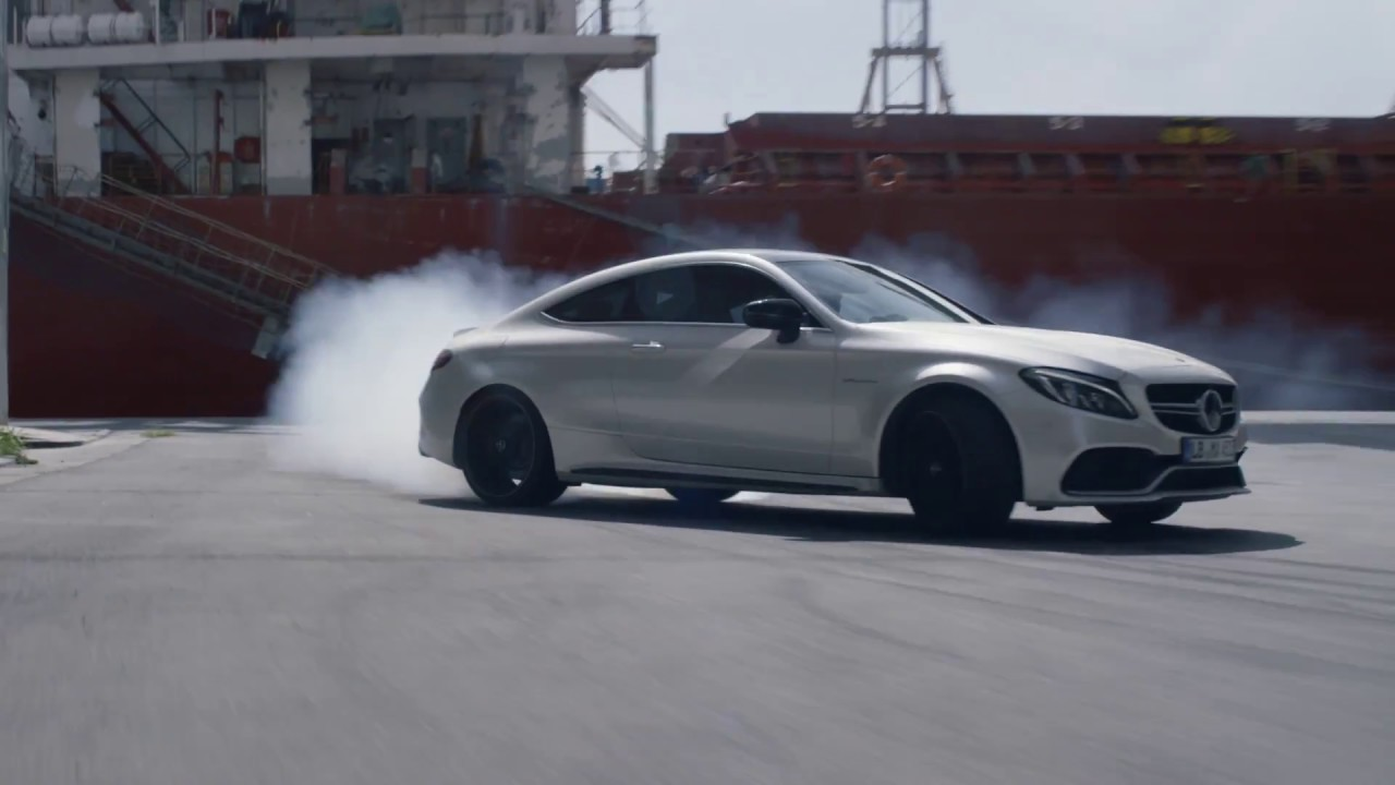 The new mercedes amg c class coup commercial mercedes for Mercedes benz new advert