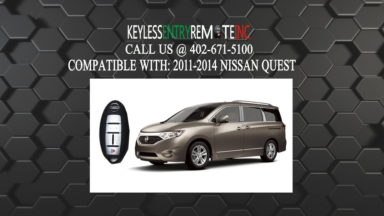 How To Replace Nissan Quest Key Fob Battery 2011 2012 2013 ...
