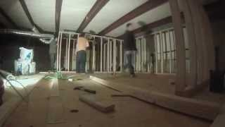Recording Studio Construction Video 5 Second Floor Framing At Westfall Recording Austin