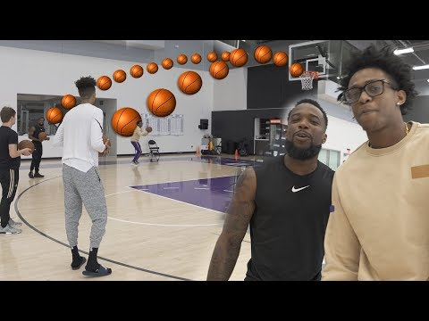 CAN 2HYPE SHOOT BETTER THEN  NBA PLAYER DE'AARON FOX!? GAME OF BANK! NBA COURT