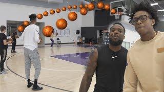 CAN 2HYPE SHOOT BETTER THEN  NBA PLAYER DE'AARON FOX!? GAME OF BANK! NBA COURT
