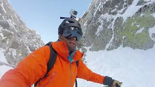Cambre d'Aze Couloir le Vermicelle ski et drone