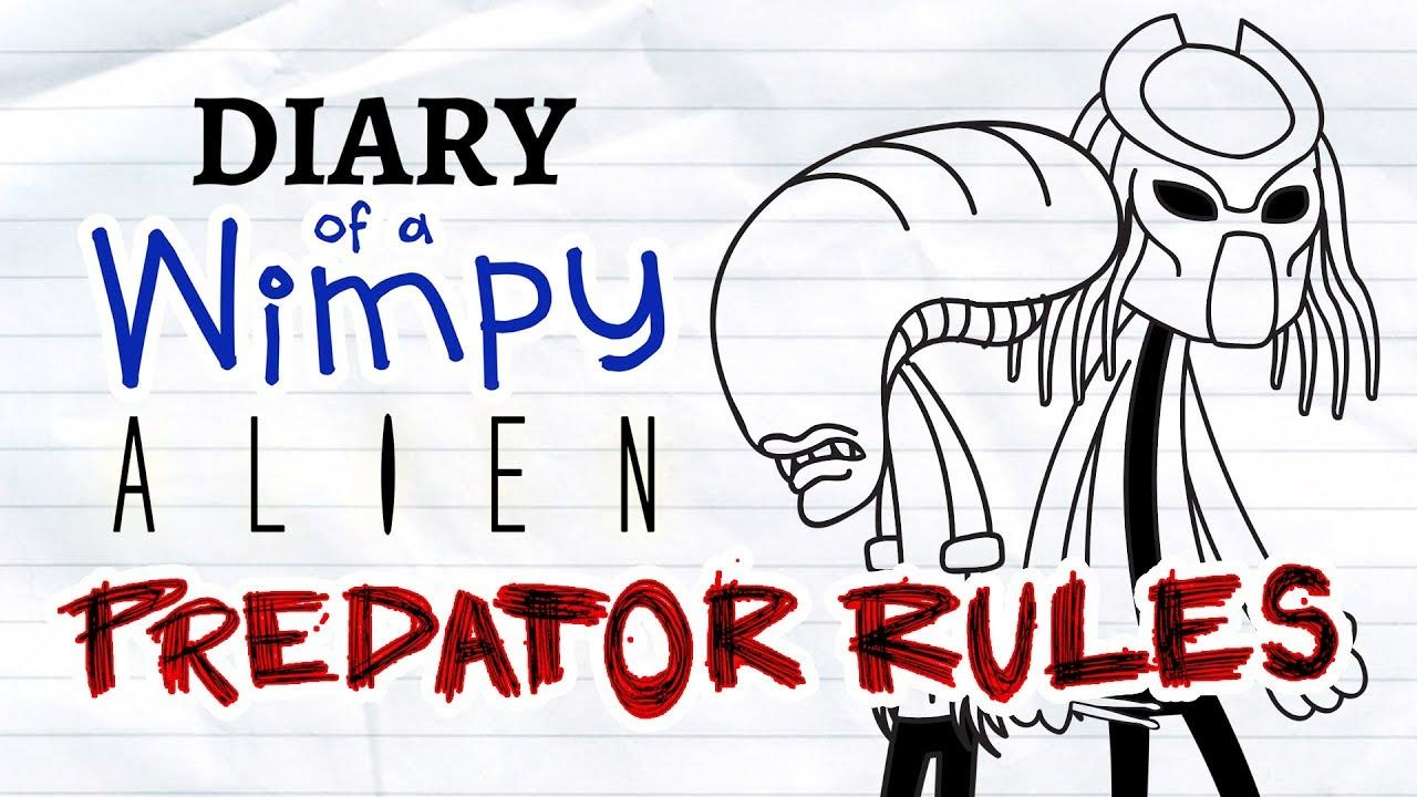 diary of a wimpy alien 2 predator rules wimpy kid alien