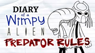 Diary of a Wimpy Alien 2 PREDATOR RULES (Wimpy Kid / Alien / Predator Parody)