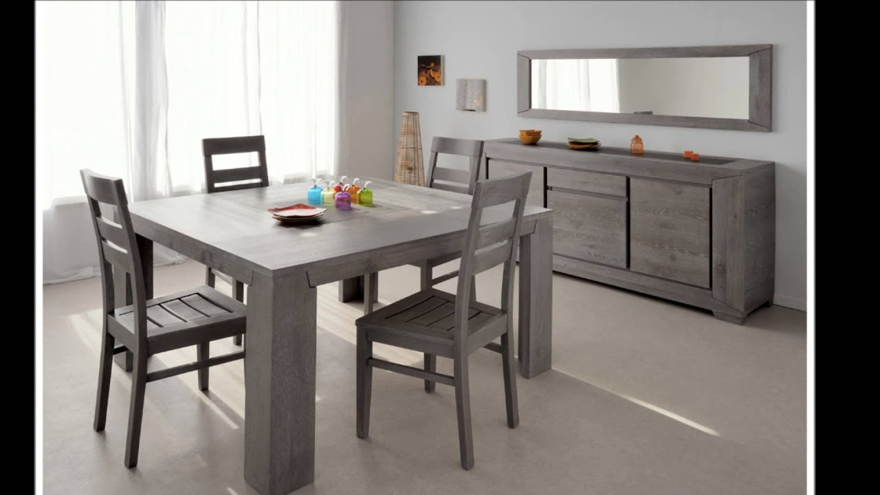 Salle manger moderne fidji youtube for Table salle a manger carree conforama