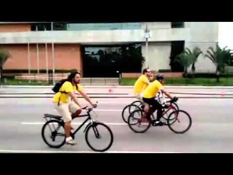 Global climate bicycle ride in Curitiba, Brazil