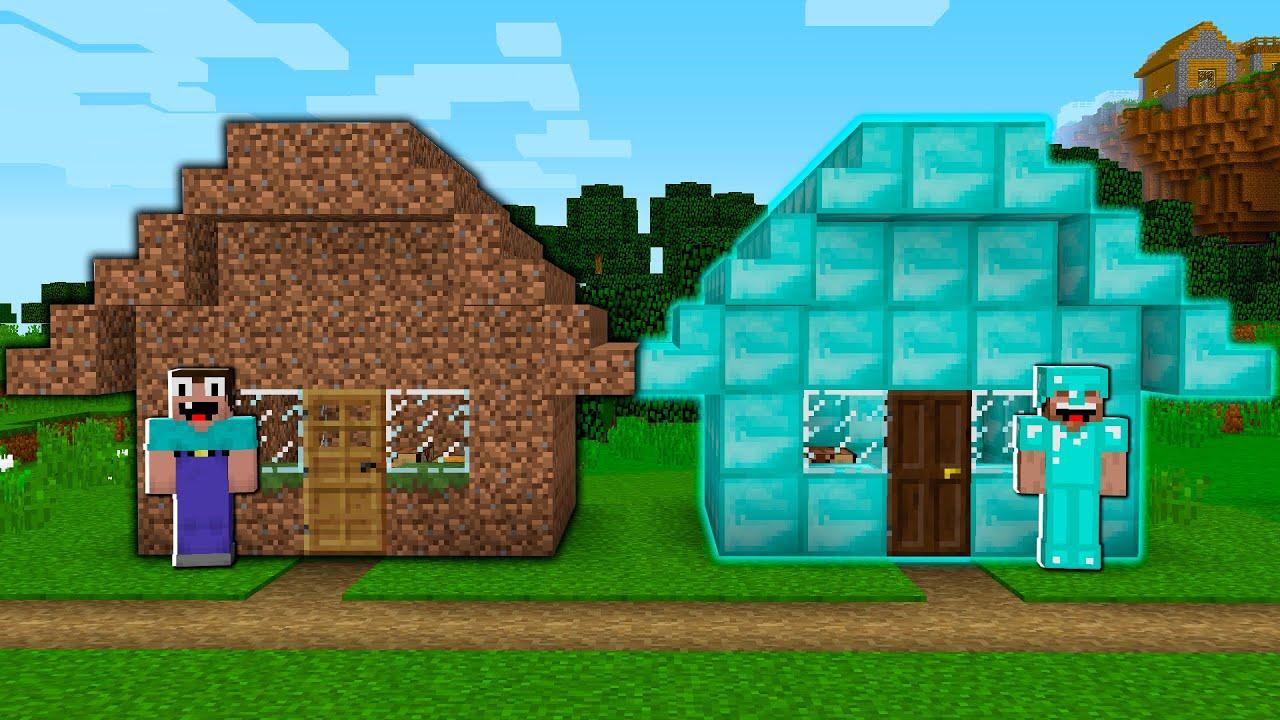 Minecraft Noob vs Pro House Build Challenge