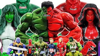 Avengers vs Thanos! Go~! Iron Man, Captain America, Spider-Man, Venom, Hulk, She-Hulk